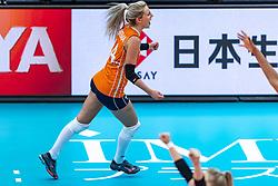 11-10-2018 JPN: World Championship Volleyball Women day 12, Nagoya<br /> Netherlands - Serbia 3-0 / Laura Dijkema #14 of Netherlands