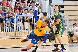 Suholeznik Matic of RK Celje Pivovarna Lasko during handball match between RK Krka and RK Celje Pivovarna Lasko in the Final of Slovenian Men Handball Cup 2018, on April 22, 2018 in Sportna dvorana Ljutomer , Ljutomer, Slovenia. Photo by Mario Horvat / Sportida