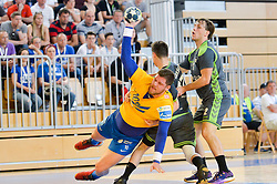 Suholeznik Matic of RK Celje Pivovarna Lasko during handball match between RK Krka and RK Celje Pivovarna Lasko in the Final of Slovenian Men Handball Cup 2018, on April 22, 2018 in Sportna dvorana Ljutomer , Ljutomer, Slovenia. Photo by Mario Horvat / Sportida