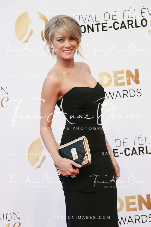 MONTE-CARLO, MONACO - JUNE 11:  Kim Matula attends the Closing Ceremony and Golden Nymph Awards of the 54th Monte Carlo TV Festival on June 11, 2014 in Monte-Carlo, Monaco.  (Photo by Tony Barson/FilmMagic)