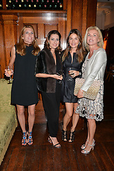Left to right, ALEXANDRA de GARIDEL, VALERIA BERTOLI, ? and BIBI GRITTI at a party to celebrate opening of Galerie Kreo in London held at Il Bottaccio, Grosvenor Place, London on 17th September 2014.