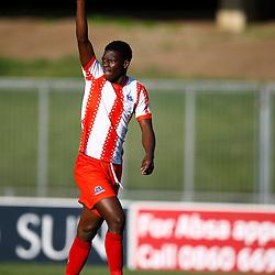 Bonokuhle Hlongwane of Maritzburg Utd during the Premier Soccer League (PSL) promotion play-off  match between  Royal Eagles and Maritzburg United F.C. at the Chatsworth Stadium Durban.South Africa,29,05,2019