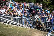 Max Morgan (USA) on his downhill run at the 2018 UCI MTB World Championships - Lenzerheide, Switzerland