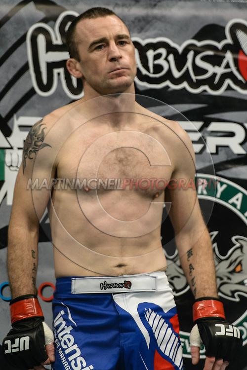 "STOCKHOLM, SWEDEN, JANUARY 24, 2015: Neil Seery during ""UFC on Fox 14: Gustafsson vs. Johnson"" inside Tele2 Arena in Stockholm, Sweden"