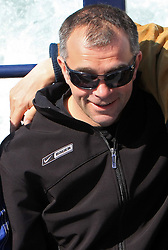 Diko Stevic, Matjaz Kopitar and ? at whale watching boat, when some guys of Slovenian Team were celebrating an anniversary of playing for the team, during IIHF WC 2008 in Halifax,  on May 07, 2008, sea at Halifax, Nova Scotia, Canada. (Photo by Vid Ponikvar / Sportal Images)