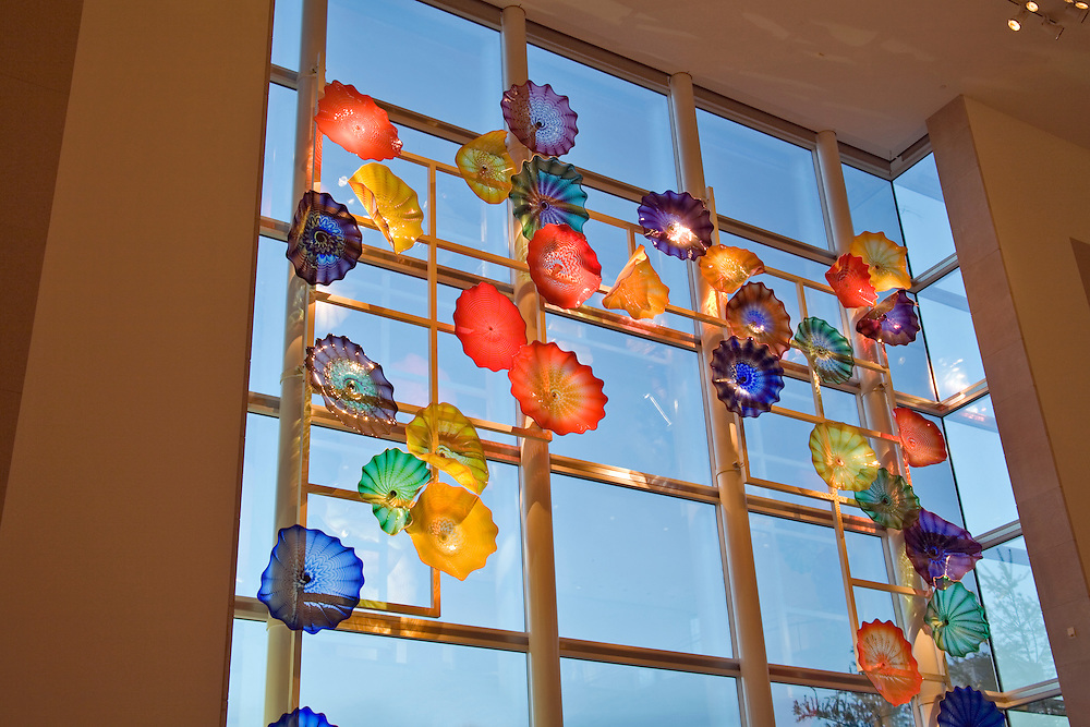 Dallas Museum of Art:  Chihuly glass sculpture.