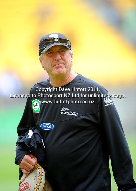 NZ coach John Wright. First one-day international cricket match - New Zealand v Pakistan at Westpac Stadium, Wellington, New Zealand on Saturday, 22 January 2011. Photo: Dave Lintott / photosport.co.nz