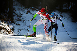Kresimir Crnkovic (CRO) during the Men 20 km Individual Competition at day 1 of IBU Biathlon World Cup 2019/20 Pokljuka, on January 23, 2020 in Rudno polje, Pokljuka, Pokljuka, Slovenia. Photo by Peter Podobnik / Sportida