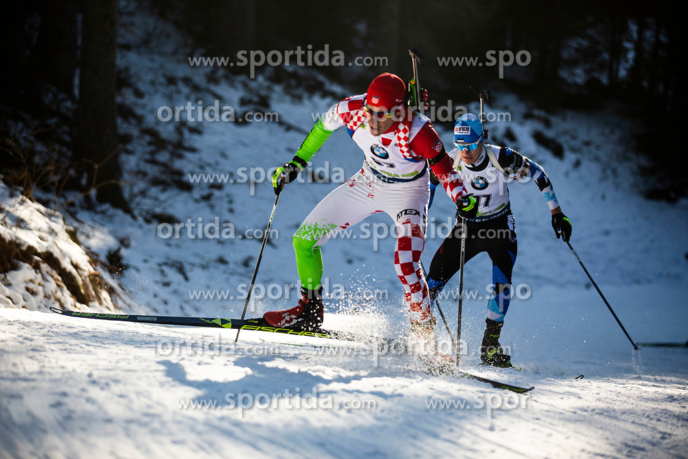 Kresimir Crnkovic (CRO) during the Men 20 km Individual Competition at day 1 of IBU Biathlon World Cup 2019/20 Pokljuka, on January 23, 2020 in Rudno polje, Pokljuka, Pokljuka, Slovenia. Photo by Peter Podobnik / Sportida
