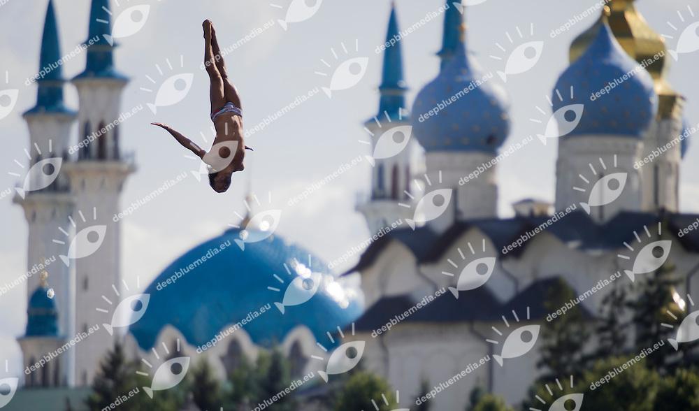 SPASOV Todor BUL<br /> High Diving - Men's 27m high dive preliminaries<br /> Day 11 03/08/2015<br /> XVI FINA World Championships Aquatics Swimming<br /> Kazan Tatarstan RUS July 24 - Aug. 9 2015 <br /> Photo Giorgio Perottino/Deepbluemedia/Insidefoto