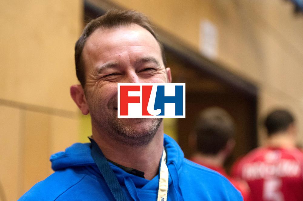 BERLIN - Indoor Hockey World Cup<br /> Czech Republic - Trinidad &amp; Tobago<br /> foto: Umpire Lee Barron<br /> WORLDSPORTPICS COPYRIGHT FRANK UIJLENBROEK