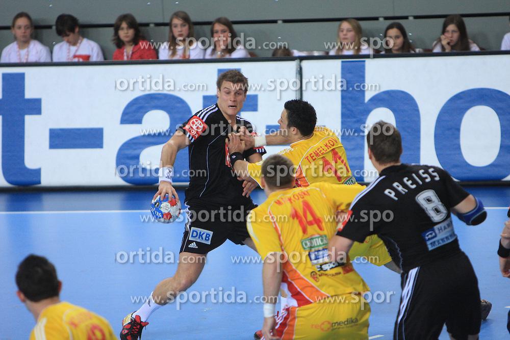 Christian Schone (19) of Germany during 21st Men's World Handball Championship preliminary Group C match between FYR Macedonia and Germany, on January 21, 2009, in Arena Varazdin, Varazdin, Croatia. (Photo by Vid Ponikvar / Sportida)