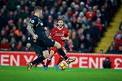 LIVERPOOL, ENGLAND - Boxing Day, Tuesday, December 26, 2017: Liverpool's Adam Lallana during the FA Premier League match between Liverpool and Swansea City at Anfield. (Pic by David Rawcliffe/Propaganda)