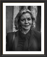 Lauren Bacall<br /> Pictured in London <br /> Museum-quality Archival signed Framed Photograph A3 £650
