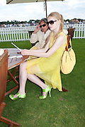 LEON MAX; KATIA ELIZAROVA, Cartier International Polo. Smiths Lawn. Windsor. 24 July 2011. <br /> <br />  , -DO NOT ARCHIVE-© Copyright Photograph by Dafydd Jones. 248 Clapham Rd. London SW9 0PZ. Tel 0207 820 0771. www.dafjones.com.
