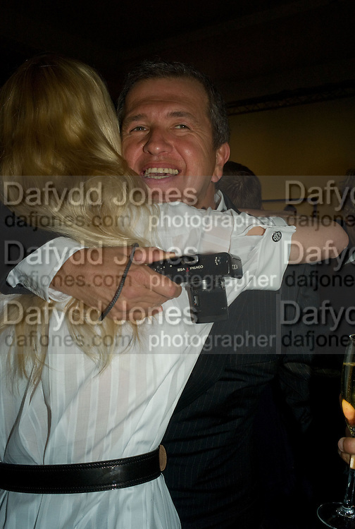 CLAUDIA SCHIFFER AND MARIO TESTINO, Mario Testino: Obsessed by You -  private view<br />Phillips de Pury & Company, Howick Place, London, SW1, 2 July 2008 *** Local Caption *** -DO NOT ARCHIVE-© Copyright Photograph by Dafydd Jones. 248 Clapham Rd. London SW9 0PZ. Tel 0207 820 0771. www.dafjones.com.