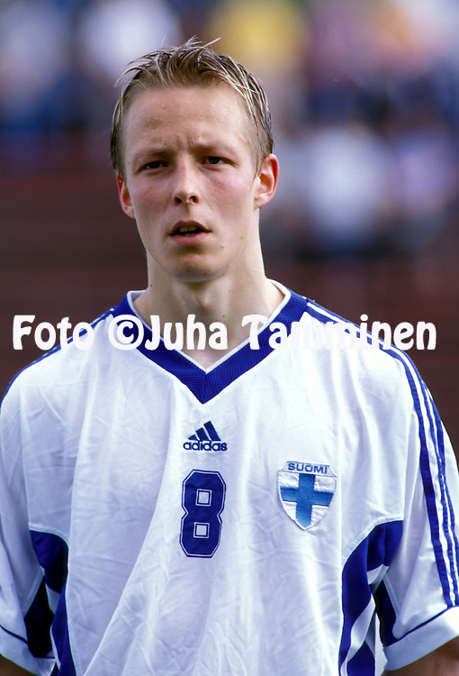04.06.1999, Ratina Stadium, Tampere, Finland. UEFA under-21 European Championship qualifying match, Finland v Turkey.Janne Salli - Finland.©JUHA TAMMINEN