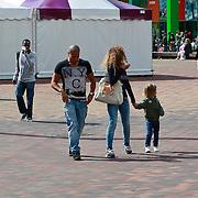 NLD/Amsterdam/20110618 - Fajah Lourens en nieuwe partner en zoontje Shai