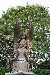 detail of Statue honoring the women of the Confederate Army of the South