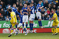 Photo: Steve Bond/Richard Lane Photography. Leicester City v Cardiff City. Coca Cola Championship. 13/03/2010. Peter Whittingham has his curled free kick charged down