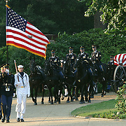 The cassion carrying the casket of President Reagan is taken to the Rotunda of the US Capitol Wednesday, June 9, 2004.  The former president will lie-in-state there until Friday morning...Photo by Khue Bui