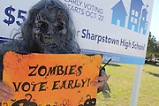 Vote Early Zombie at Sharpstown High School