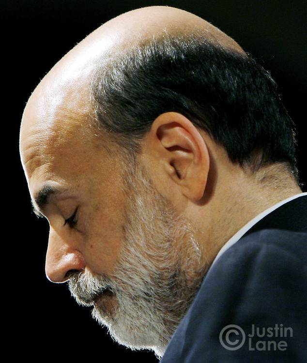 United States Federal Reserve Chairman Benjamin Bernanke is seen during an appearance at the New York University School of Law's Global Economic Policy Forum in New York, New York on Wednesday 11 April 2007. Among the topics discussed by Bernanke was the current market-based hedge fund system in the U.S., which Bernanke said is operating well, but has room for some improvements.