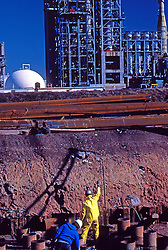 Construction Engineers, Operators, Workers. Oil Refinery, Power Plants