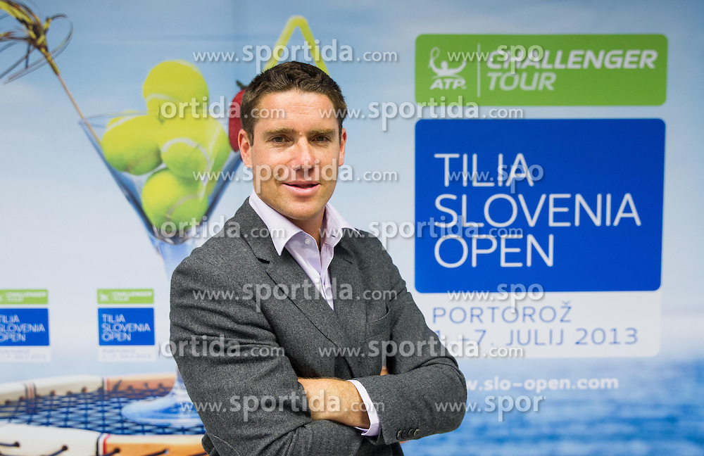 Gregor Krusic of TZS during press conference of ATP Challenger tournament Tilia Slovenia Open in Portoroz from 1st - 7th July 2013 on May 16, 2013 in Kristalna palaca, Ljubljana, Slovenia. (Photo By Vid Ponikvar / Sportida)