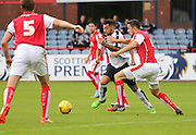 Dundee's Kane Hemmings takes on Rotherham United's Richard Wood - Dundee v Rotherham United - pre-season friendly at Dens Park <br /> <br />  - &copy; David Young - www.davidyoungphoto.co.uk - email: davidyoungphoto@gmail.com