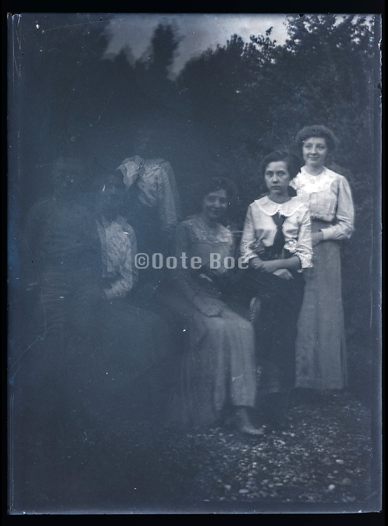 double exposed family portrait France ca 1920s