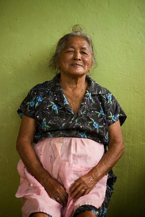 After waking up around 4am, making and baking tortillas for a couple of hours, she walks 5 miles in to the village to sell her homemade food.