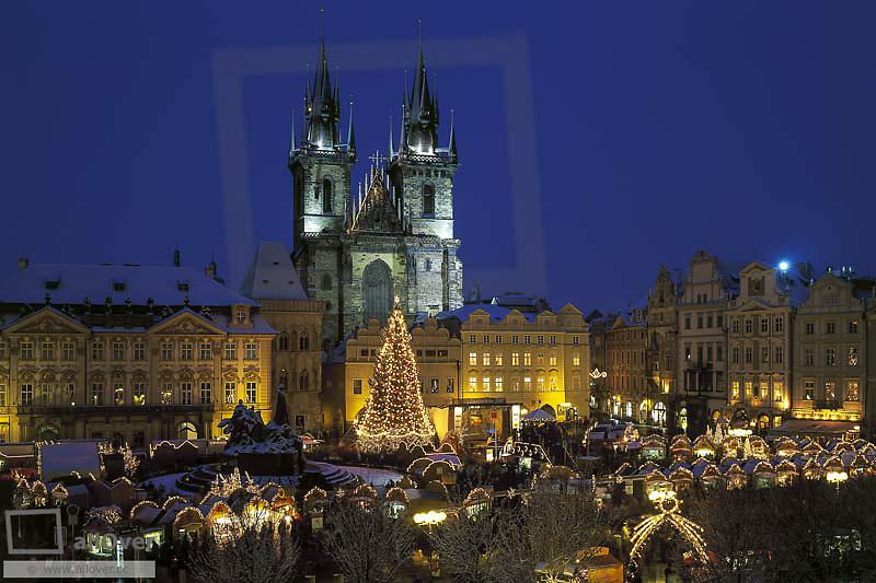 Weihnachtsmarkt in Prag, Tschechien