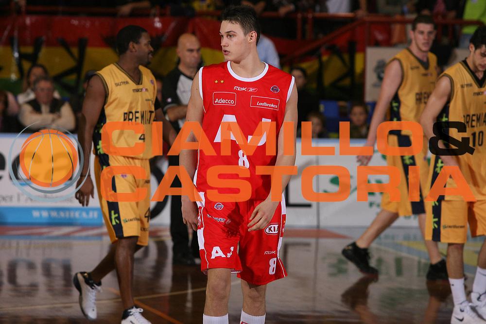 DESCRIZIONE : Porto San Giorgio Lega A1 2007-08 Premiata Montegranaro Armani Jeans Milano <br /> GIOCATORE : Danilo Gallinari <br /> SQUADRA : Armani Jeans Milano <br /> EVENTO : Campionato Lega A1 2007-2008 <br /> GARA : Premiata Montegranaro Armani Jeans Milano <br /> DATA : 04/11/2007 <br /> CATEGORIA : Delusione<br /> SPORT : Pallacanestro <br /> AUTORE : Agenzia Ciamillo-Castoria/G.Ciamillo