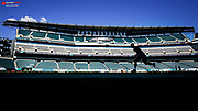 Aug 24, 2017; Philadelphia, PA, USA; General view as Philadelphia Eagles quarterback Carson Wentz (11) warms up before a game against the Miami Dolphins at Lincoln Financial Field. Mandatory Credit: Bill Streicher-USA TODAY Sports