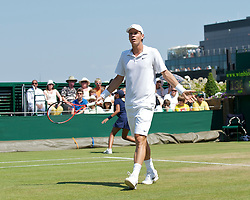 LONDON, ENGLAND - Monday, June 28, 2010: Tomas Berdych (CZE) compains to the Umpire during the Gentlemen's Singles 4th Round match on day seven of the Wimbledon Lawn Tennis Championships at the All England Lawn Tennis and Croquet Club. (Pic by David Rawcliffe/Propaganda)