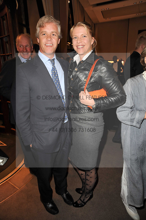 PETER & SOPHIE THOMPSON at a party to celebrate the publication of Inheritance by Tara Palmer-Tomkinson at Asprey, 167 New Bond Street, London on 28th September 2010.