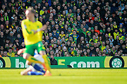 Norwich fans watching on during the EFL Sky Bet Championship match between Norwich City and Ipswich Town at Carrow Road, Norwich, England on 18 February 2018. Picture by Nigel Cole.
