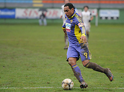 Marcos Tavares #9 of Maribor during football match between ND Mura 05 and NK Maribor in 21th Round of Slovenian First League PrvaLiga NZS 2012/13 on December 2, 2012 in Murska Sobota, Slovenia. (Photo By Ales Cipot / Sportida)