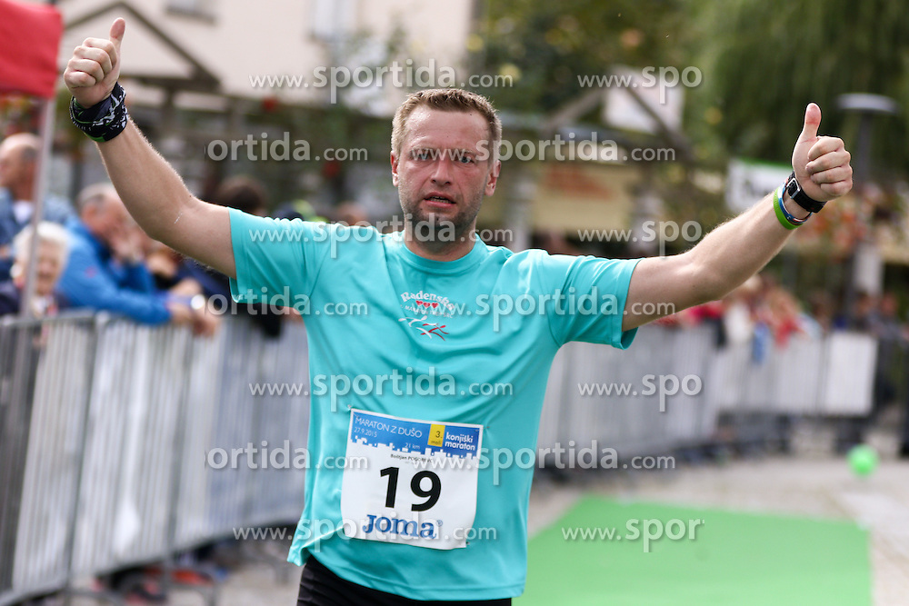 Bostjan Pogorevc competes during 3. Konjiski maraton / 3rd Marathon of Slovenske Konjice, on September 27, 2015 in Slovenske Konjice, Slovenia. Photo by Urban Urbanc / Sportida