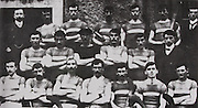 "Tipperary (Thurles) All Ireland Hurling Champions 1906. Back Row: Denis O'Keeffe (Pres), Tom Allen, Jack Cahill, Jack Gleeson, Tom Kerwick, Paddy ""Best"" Maher, J M Kennedy ( Sec). Middle Row: P Burke, J Burke, P Riordan, J Hayes ( Vice-captain), Martin O'Brien, Phil Moloney (treasurer). Front Row: Jack Mockler, Joe O'Keeffe, J Brien ( ""Hawk""), T Semple (capt), T Kenna, M Gleeson, Paddy Brolan."