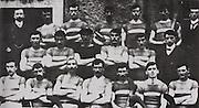 "Tipperary (Thurles) All Ireland Hurling Champions 1906. Back Row: Denis O'Keeffe (Pres), Tom Allen, Jack Cahill, Jack Gleeson, Tom Kerwick, Paddy ""Best"" Maher, J M Kennedy ( Sec). Middle Row: P Burke, J Burke, P Riordan, J Hayes ( Vice-captain), Martin O'Brien, Phil Moloney (treasurer). Front Row: Jack Mockler, Joe O'Keeffe, J Brien ( ""Hawk""), T Semple (capt), T Kenna, M Gleeson, Paddy Brolan."