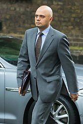 Downing Street,  London, June 27th 2015. State for Business Secretary Sajid Javid arrives for the first post-Brexit cabinet meeting at 10 Downing Street