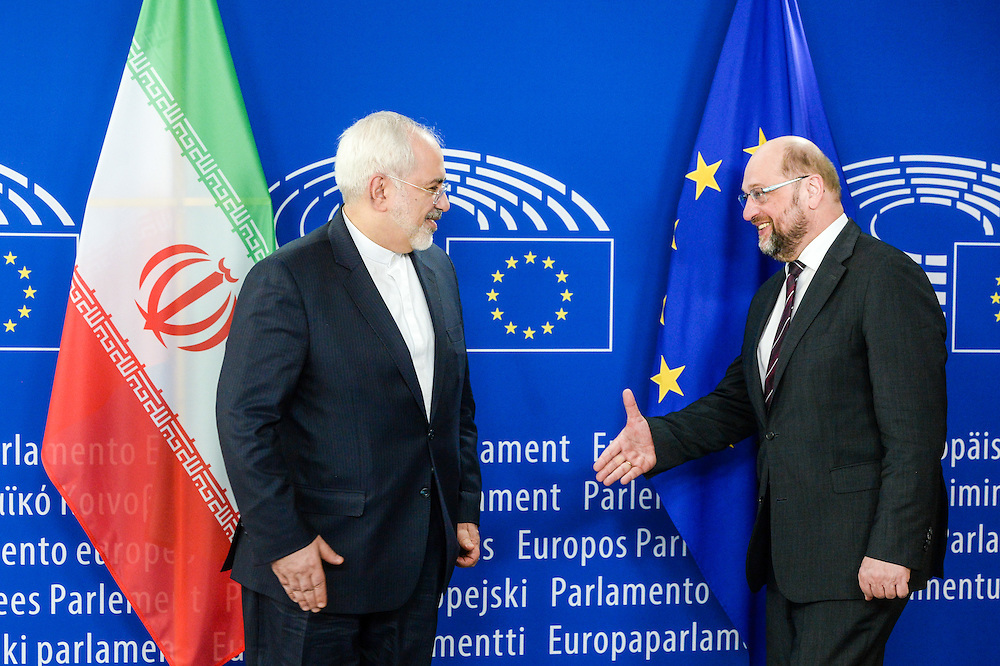Martin SCHULZ - EP President meets with Mohammad JAVAD ZARIF - Javad  Iranian Minister of Foreign Affairs