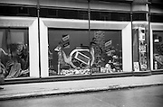 06/04/1966<br /> 04/06/1966<br /> 06 April 1966<br /> Window display for Piko Tea Pyrex teapot  demonstration at the China department of Switzers, Grafton Street, Dublin.
