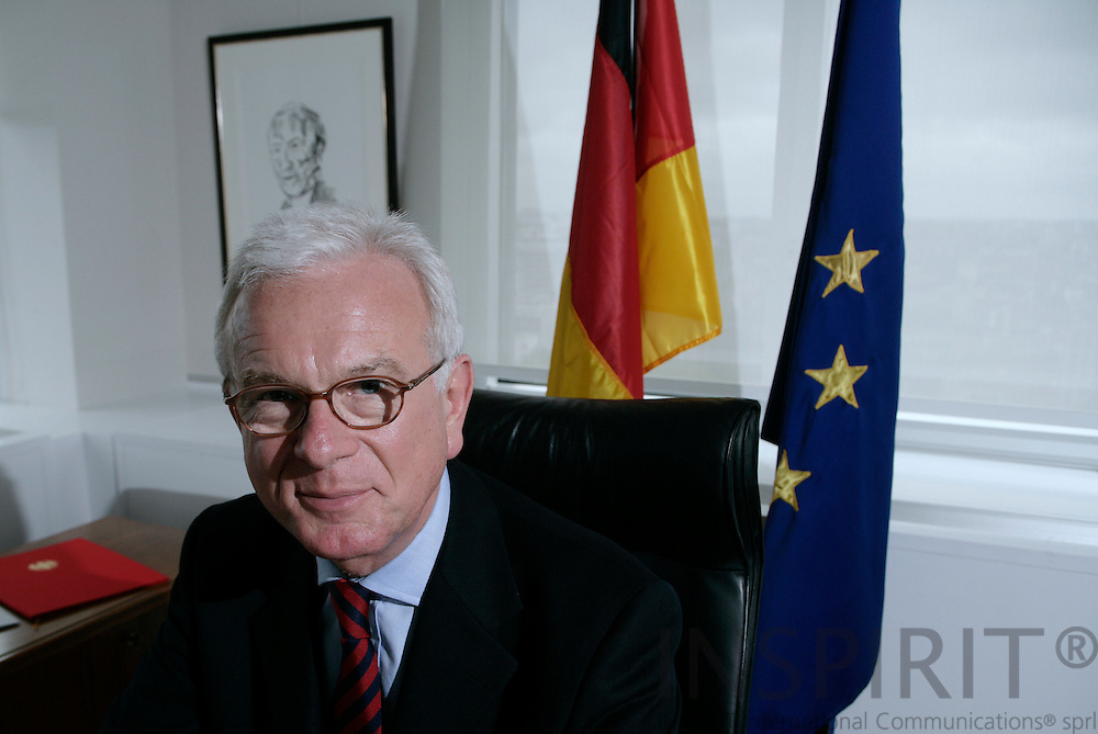 BRUSSELS - BELGIUM - 07 MAY 2007 -- Hans-Gert POETTERING, President of the European Parliament - German MEP (CDU, EPP/ED) and member of the Group of the European People's Party (Christian Democrats) and European Democrats, during an interview in his office. Photo: Erik Luntang