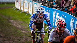 Jonathan PAGE (17,USA), 6th lap at Men UCI CX World Championships - Hoogerheide, The Netherlands - 2nd February 2014 - Photo by Pim Nijland / Peloton Photos