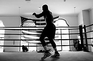 Olympic boxer Michael Bennett works out in a Chicago gym (photo by Anne Ryan/copyright USA Today)