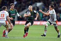 Rory Hutchinson of Northampton Saints takes on the Benetton defence - Mandatory byline: Patrick Khachfe/JMP - 07966 386802 - 12/01/2020 - RUGBY UNION - Franklin's Gardens - Northampton, England - Northampton Saints v Benetton Rugby - Heineken Champions Cup
