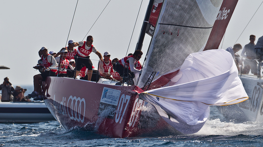 FRANCE, Marseille. 16th June 2011. AUDI MedCup Marseille Trophy. TP52, Audi Sailing Team powered by ALL4ONE.